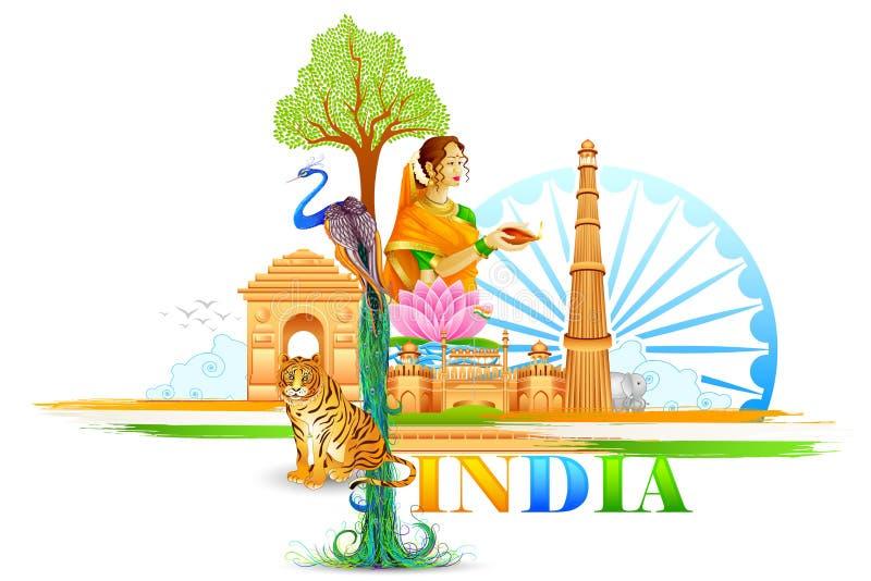 Papel de parede da Índia ilustração royalty free