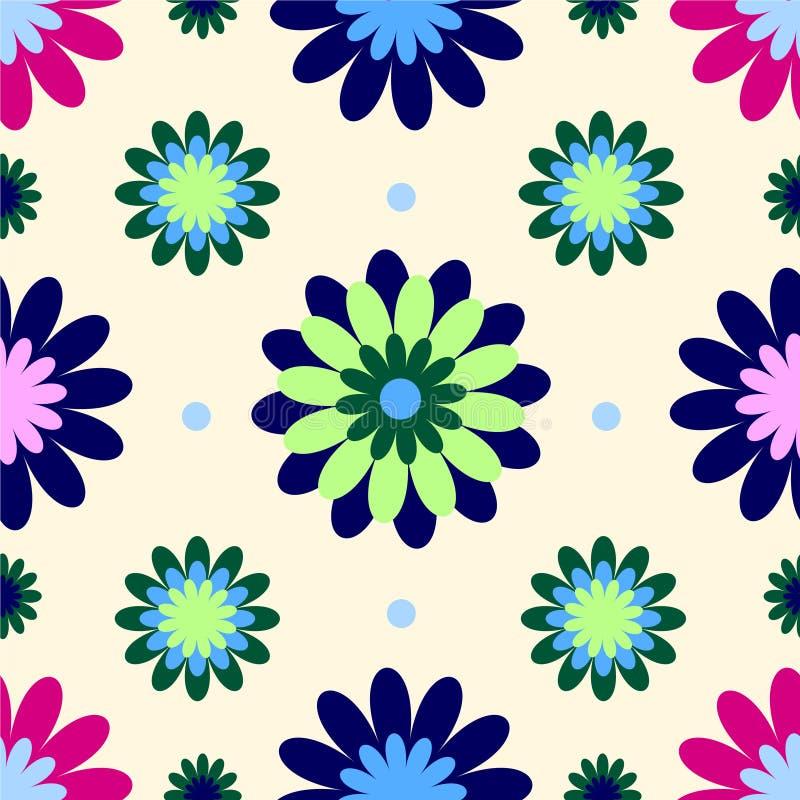 Papel de parede da flor do vintage ilustração do vetor