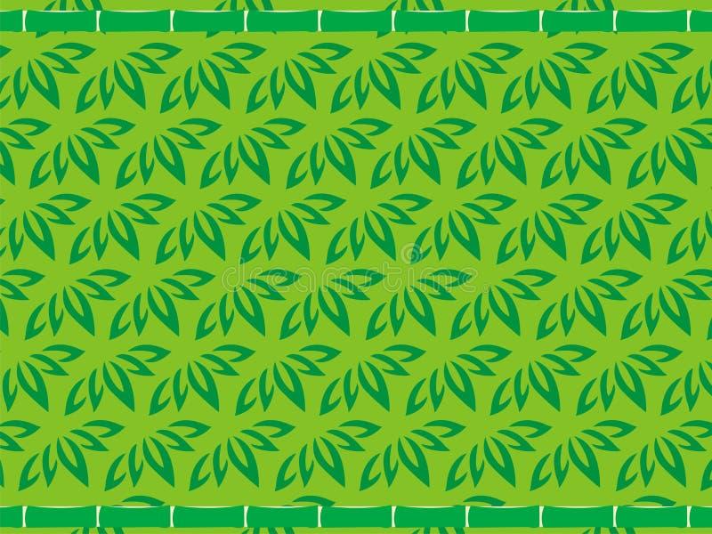 Papel de parede da folha do verde de Bambo imagens de stock
