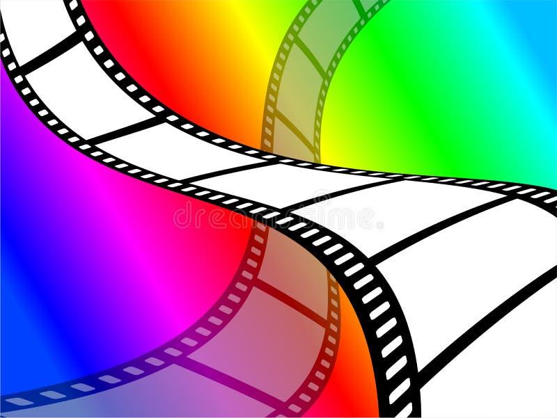 Papel de parede da película de cor ilustração stock