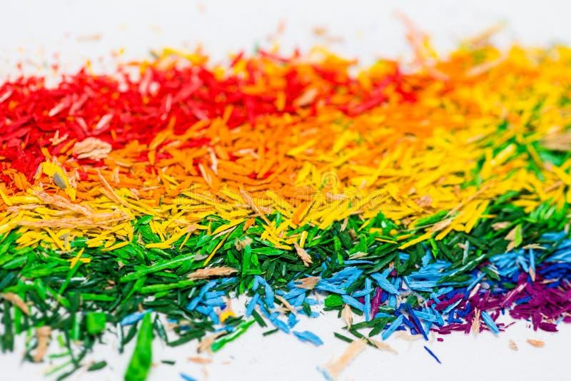 Papel de parede da poeira do lápis da cor fotografia de stock