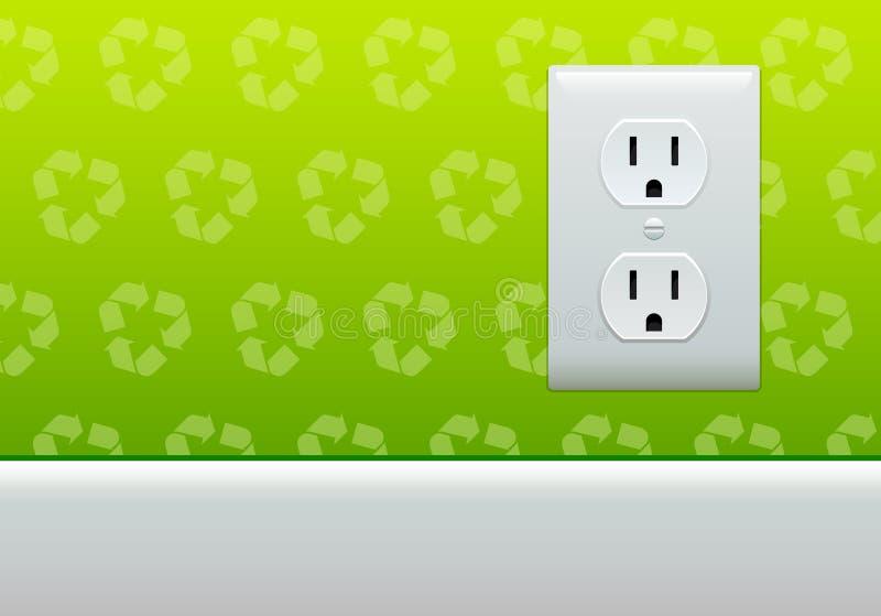 Papel de parede da tomada elétrica ilustração royalty free