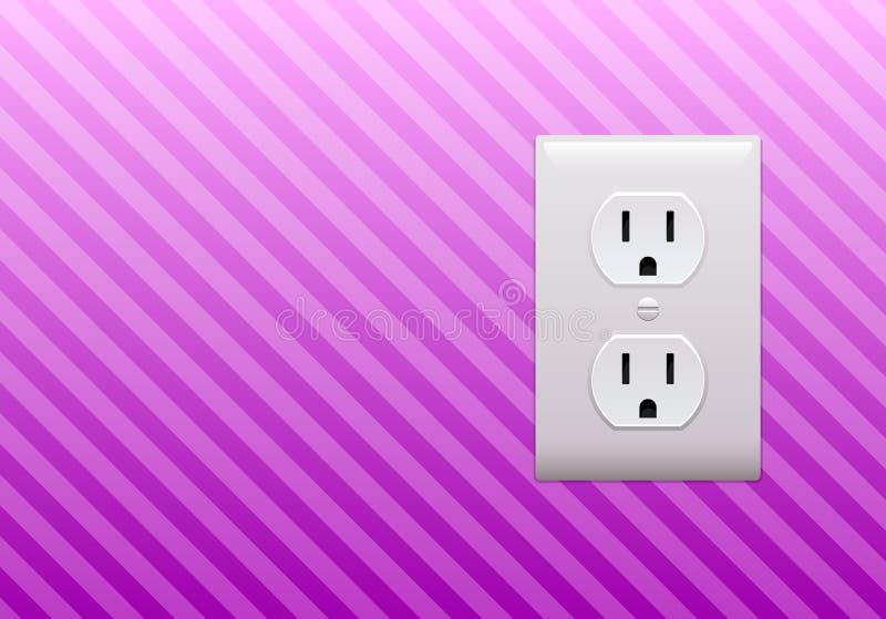 Papel de parede da tomada elétrica ilustração stock