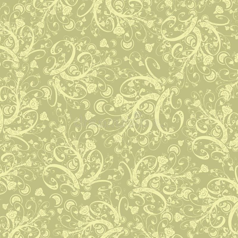 Papel de parede das flores da caligrafia ilustração stock