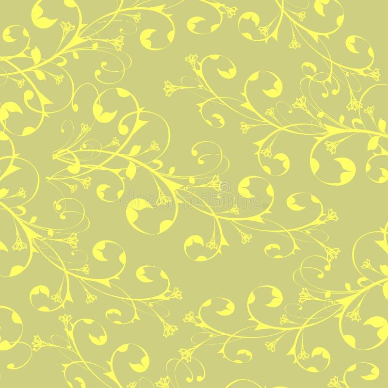 Papel de parede das flores da caligrafia ilustração royalty free