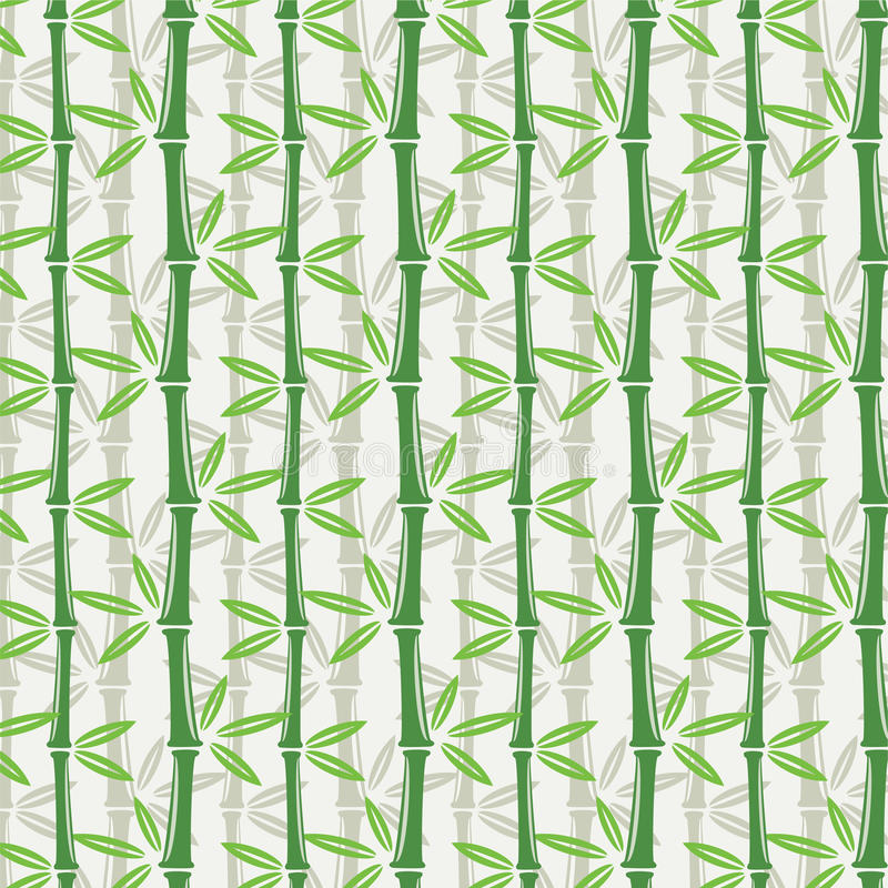 Papel de parede de bambu sem emenda ilustração royalty free