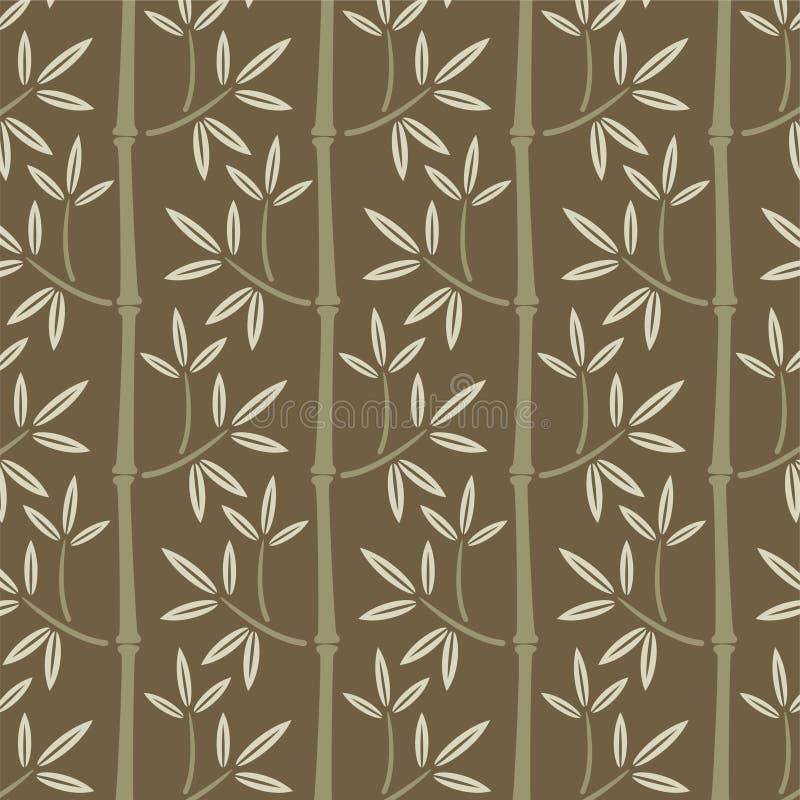 Papel de parede de bambu sem emenda ilustração stock