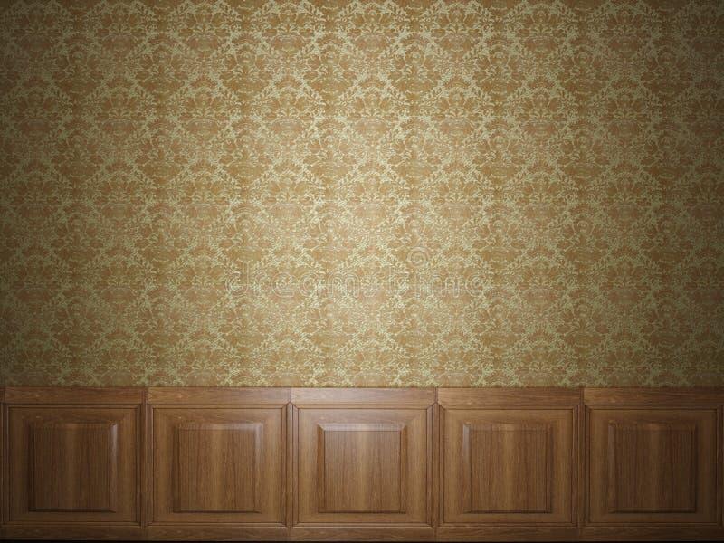 Papel de parede de madeira do painel fotografia de stock royalty free