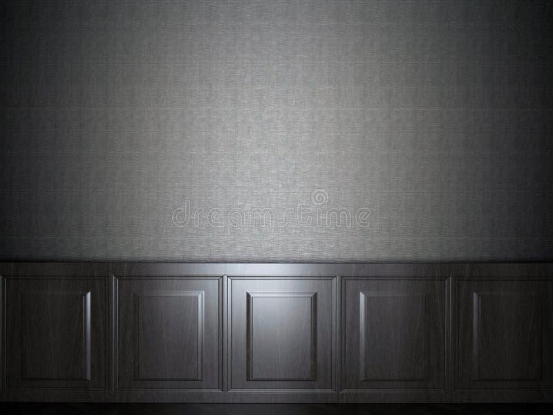 Papel de parede de madeira do painel imagem de stock royalty free