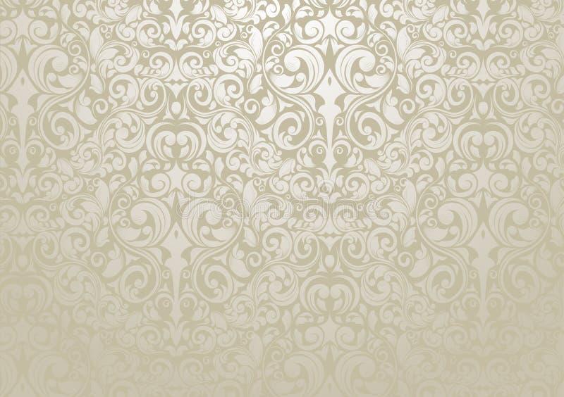 Papel de parede de prata ilustração royalty free