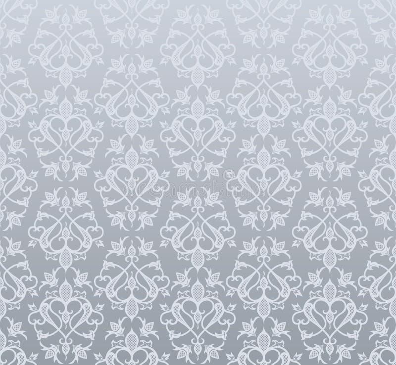 Papel de parede de prata sem emenda ilustração do vetor