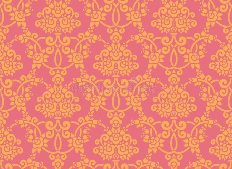 Papel de parede de Rosa ilustração stock