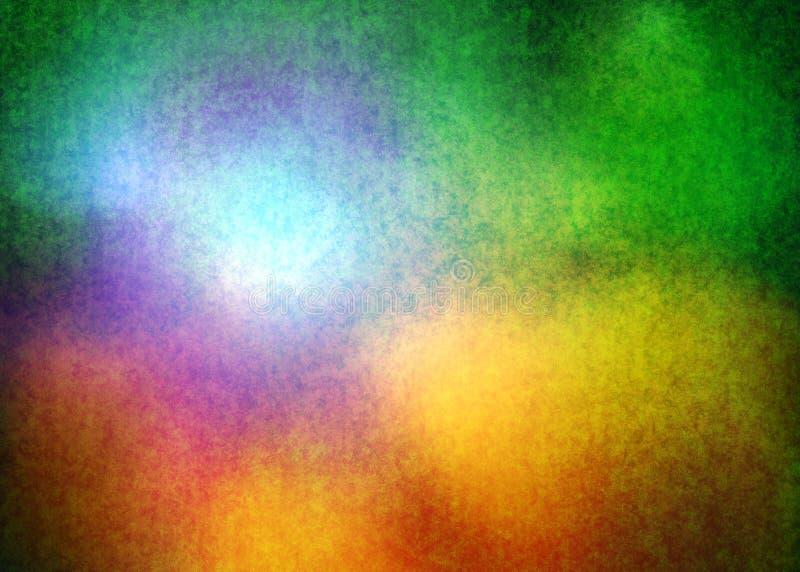Papel de parede decorativo oriental da ilustração do fundo da textura do teste padrão do Grunge de Forest Green Yellow e da luz ilustração do vetor