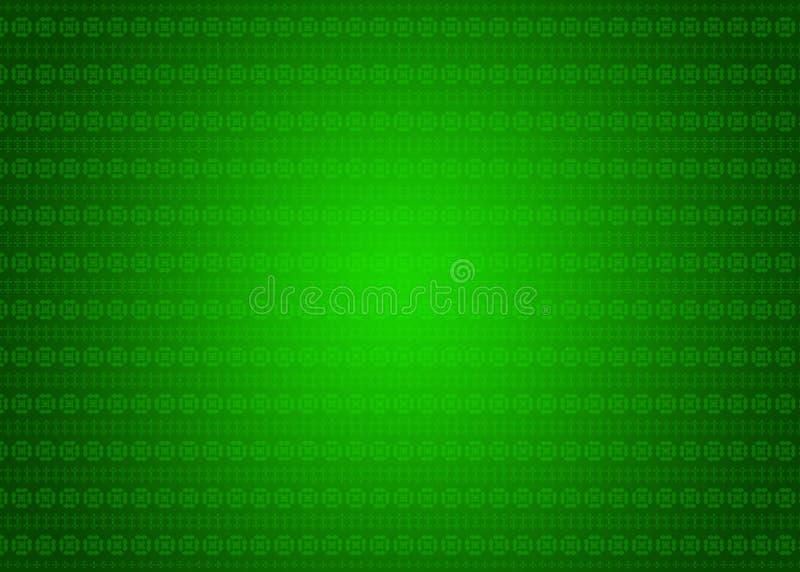 Papel de parede decorativo oriental escuro e claro japonês futurista verde da ilustração do fundo da textura do teste padrão de T ilustração stock