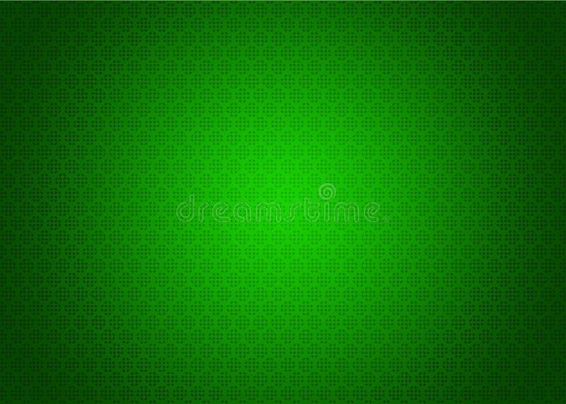 Papel de parede decorativo oriental escuro e claro japonês futurista verde neo da ilustração do fundo da textura do teste padrão  ilustração do vetor