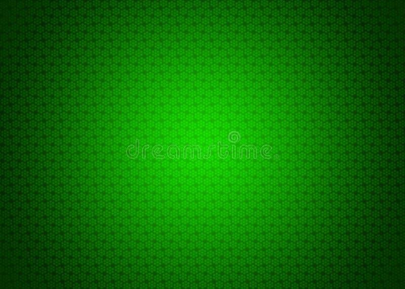 Papel de parede decorativo oriental escuro e claro japonês neo futurista verde da ilustração do fundo da textura do teste padrão  ilustração stock