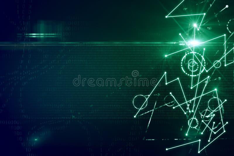 Papel de parede digital abstrato ilustração do vetor