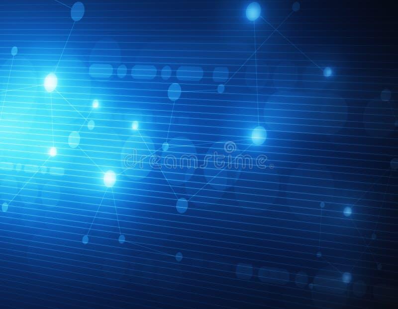 Papel de parede digital azul ilustração do vetor