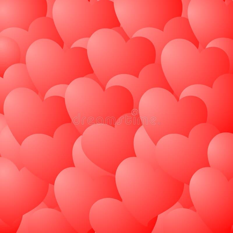 Papel de parede do amor ilustração royalty free