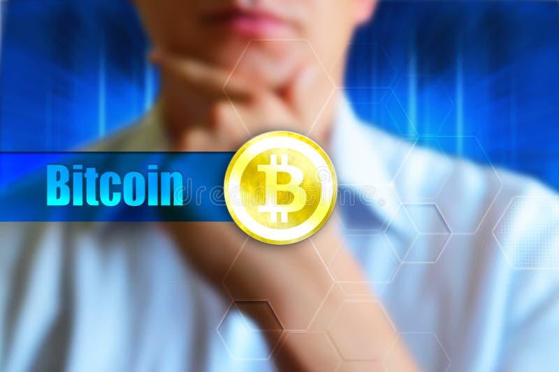 Papel de parede do conceito de Bitcoin imagens de stock royalty free
