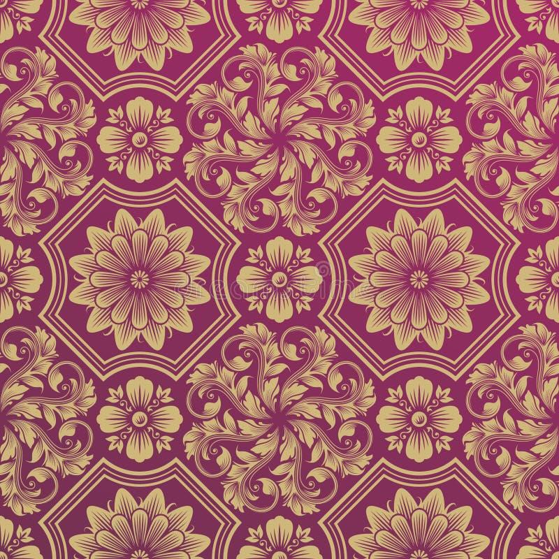 Papel de parede do damasco ilustração royalty free