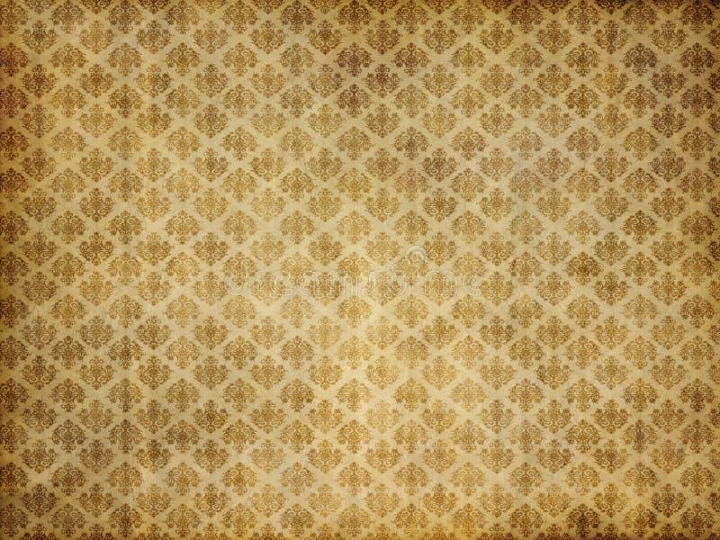 Papel de parede do damasco do vintage foto de stock royalty free