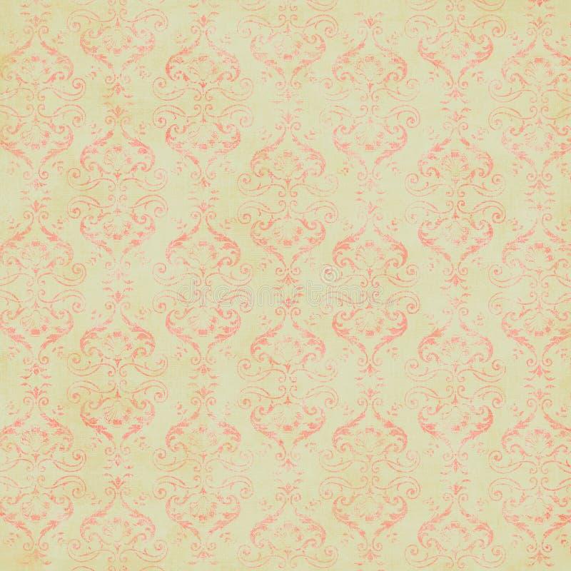 Papel de parede do damasco do vintage fotos de stock