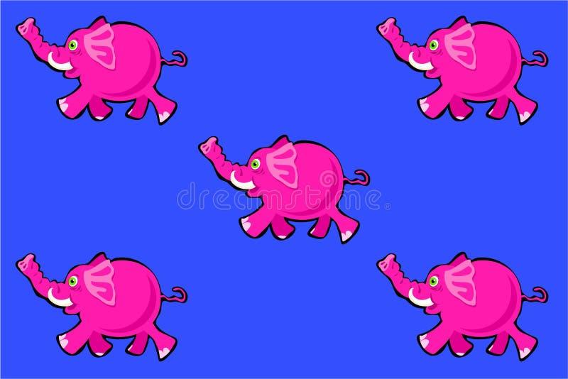 Papel de parede do elefante cor-de-rosa ilustração do vetor