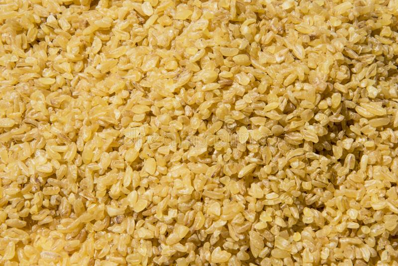 Papel de parede do fundo do alimento da dieta saudável de trigo de Bulgur imagem de stock