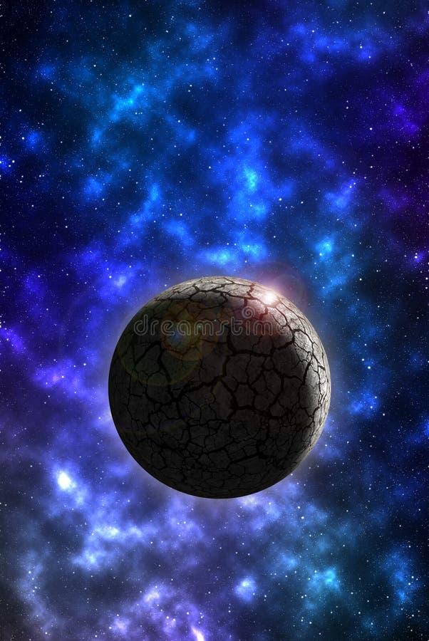 Papel de parede do móbil do planeta da rocha ilustração do vetor
