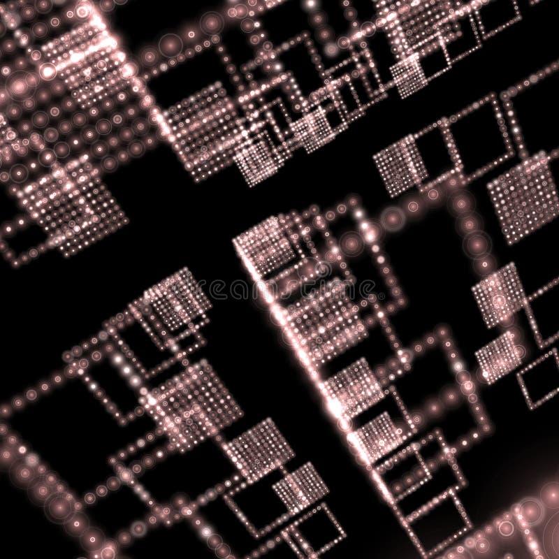 Papel de parede do mundo da matriz ilustração stock