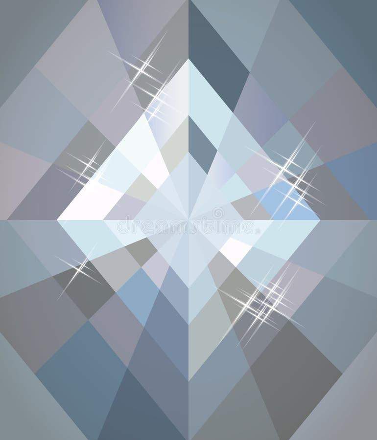 Papel de parede do pôquer dos diamantes, vetor ilustração do vetor