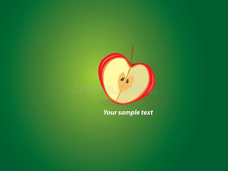 Papel de parede do Valentim com maçã heart-shaped ilustração royalty free