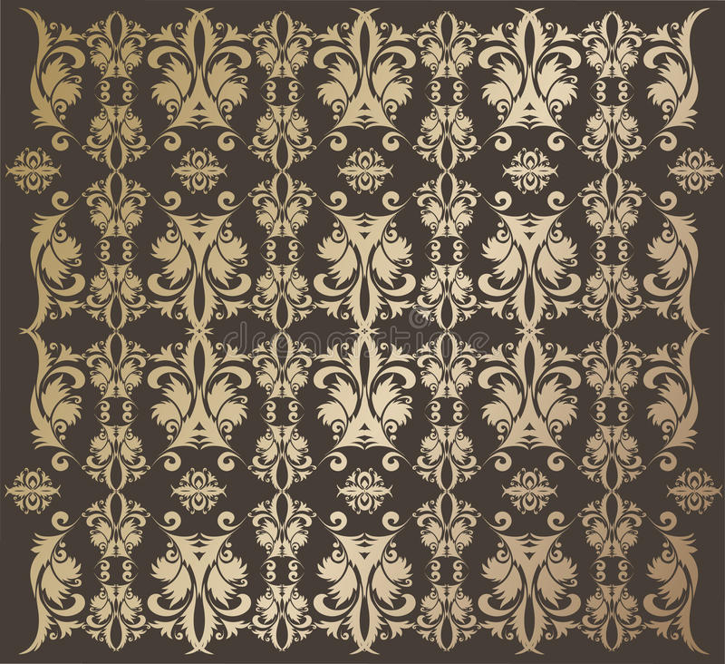 Papel de parede dourado ilustração do vetor