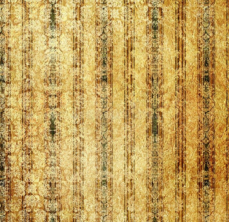 Papel de parede dourado do vintage ilustração stock