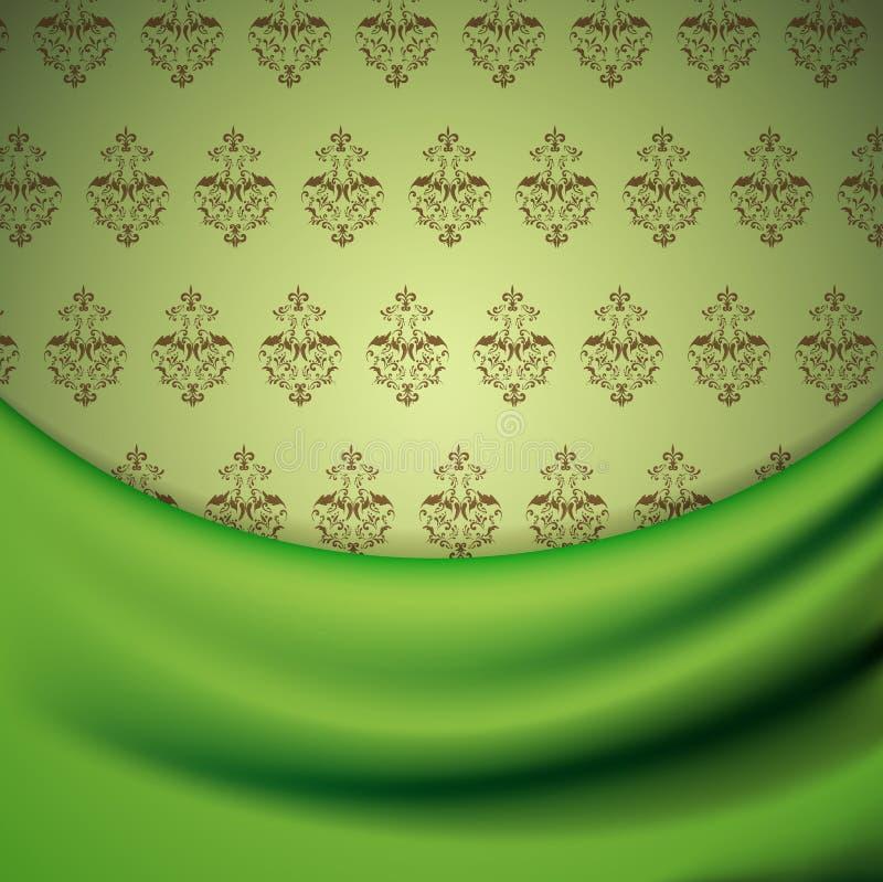 Papel de parede e drapery ilustração royalty free