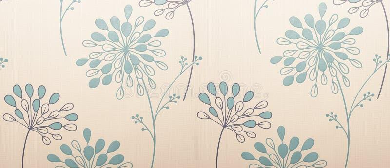 Papel de parede floral fotografia de stock royalty free