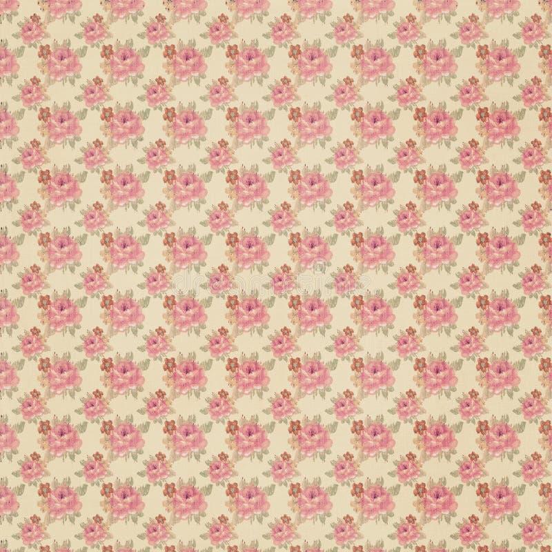 Papel de parede floral antigo foto de stock royalty free