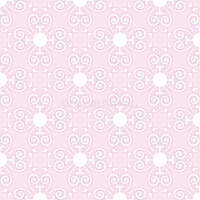 Papel de parede floral cor-de-rosa ilustração do vetor