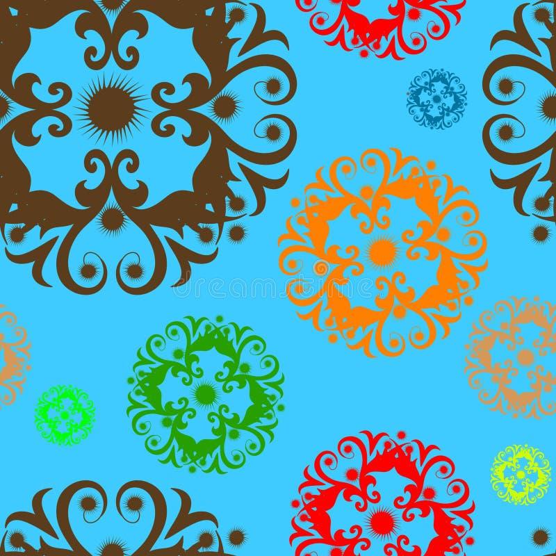 Papel de parede floral do ornamento ilustração royalty free