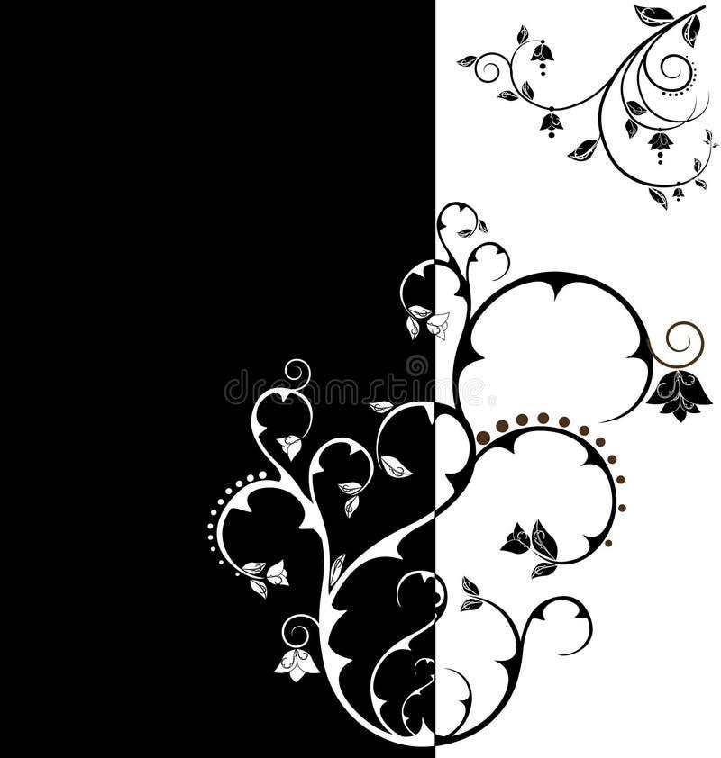 Papel de parede floral do tom do duo ilustração royalty free