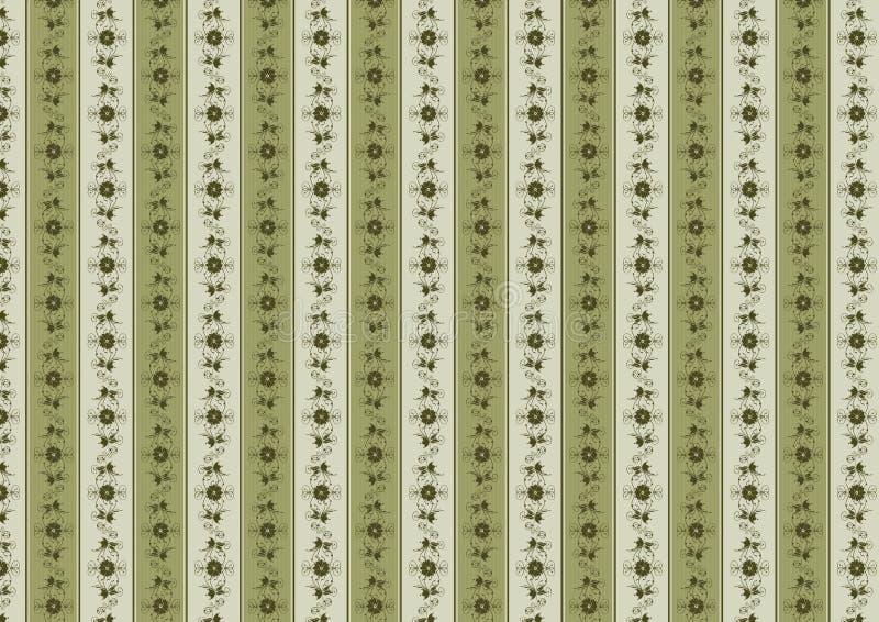 Papel de parede floral do vintage ilustração do vetor
