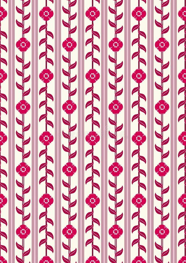 Papel de parede floral do vintage ilustração stock