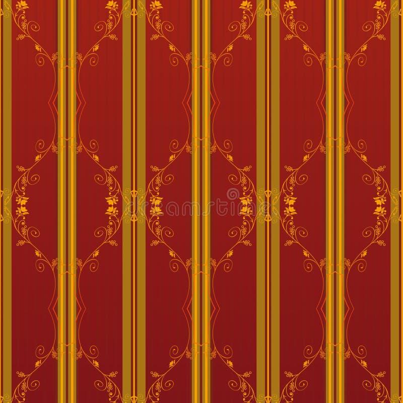 Papel de parede floral do vintage ilustração royalty free