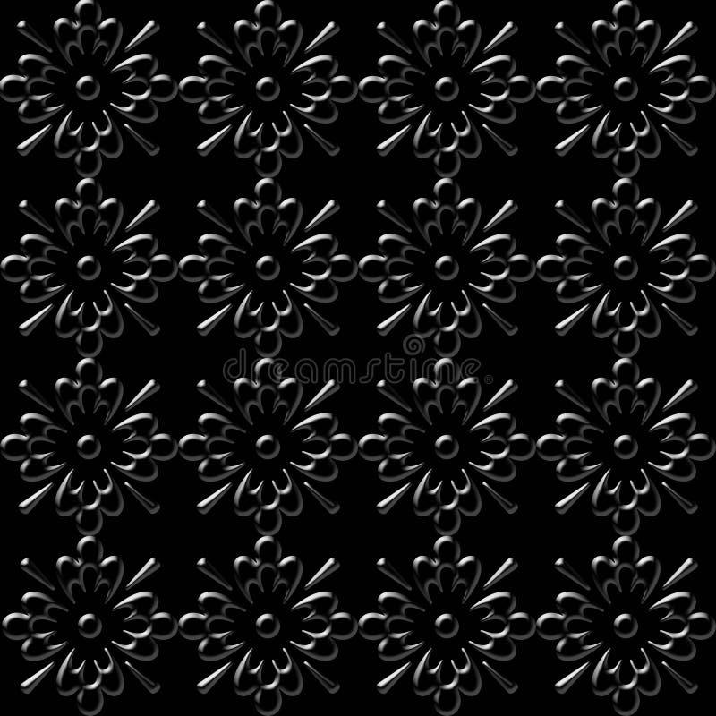 Papel de parede floral preto ilustração do vetor