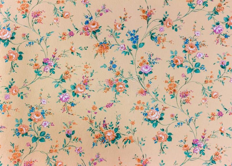 Papel de parede floral retro velho, fundo, backgroun imagem de stock
