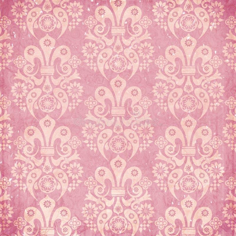 Papel de parede gasto do ornamento do vintage ilustração royalty free