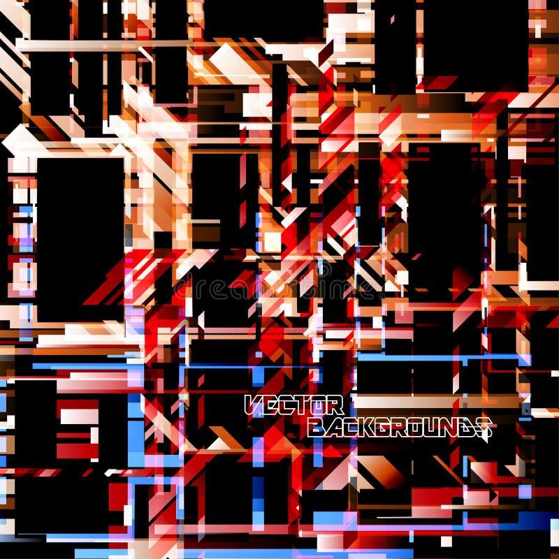 Papel de parede geométrico abstrato das formas das cores ilustração do vetor