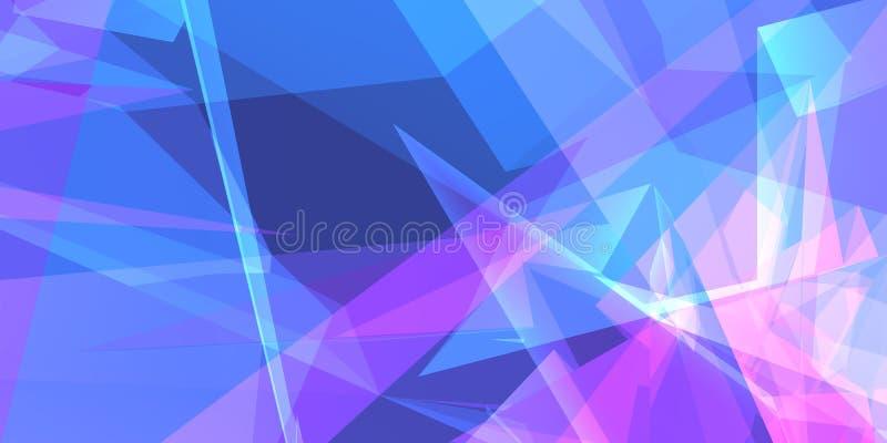 Papel de parede geométrico azul ilustração stock