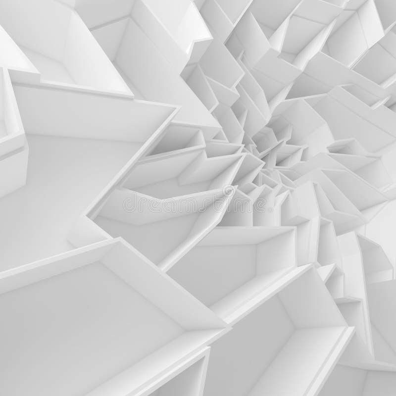 Papel de parede geométrico dos polígono do sumário da cor, como a parede da quebra ilustração royalty free